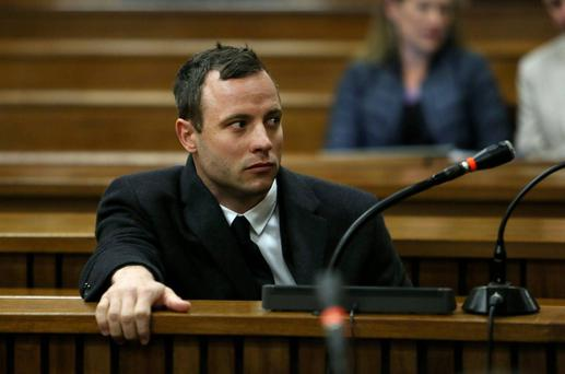Oscar Pistorius: on trial charged with murder. Photo: AP