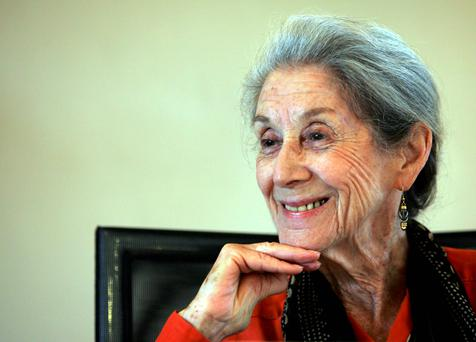 Nobel Prize for literature laureate Nadine Gordimer. Reuters