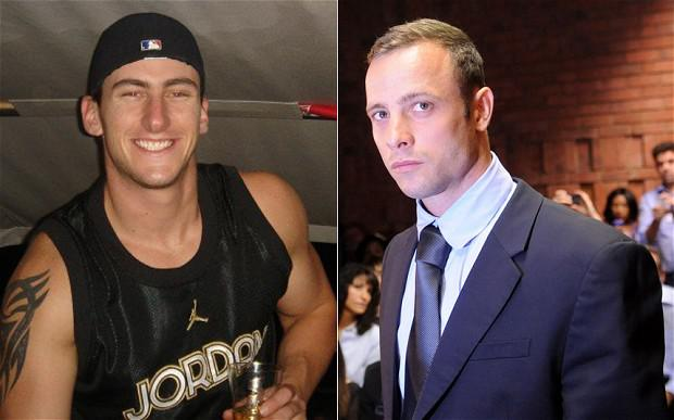 Jared Mortimer (left) and the Paralympic athlete Oscar Pistorius