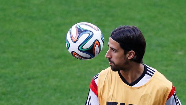 Germany's World Cup winner Sami Khedira