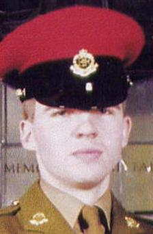 Corporal Paul Long, 24, one of six Red Caps murdered when about 400 Iraqis attacked a police station in Majar al-Kabir, Maysan, southern Iraq, in June 2003