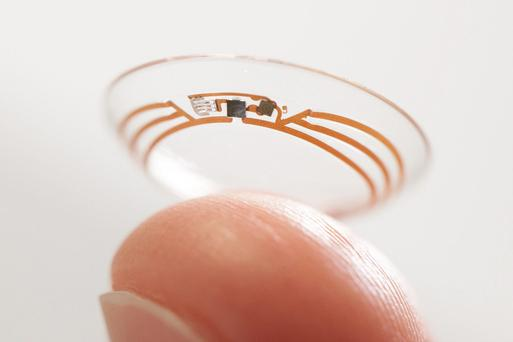 Undated handout photo issued by Google of a Google smart contact lens that can monitor the glucose levels in the eye