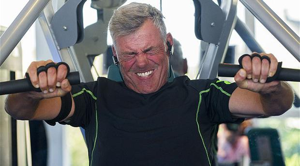 Darren Clarke has been using explosive gym sessions to shed the pounds