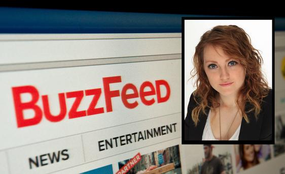 The logo of news website BuzzFeed is seen on a computer screen in Washington on March 25, 2014. AFP PHOTO/Nicholas KAMM (Photo credit should read NICHOLAS KAMM/AFP/Getty Images)