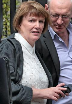 Teresa Conlon, leaving court today, after her case.