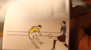 The three best goals of the World Cup have been depicted in a very novel way