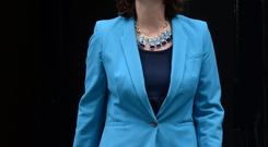 Claire Perry a junior transport minister leaves Downing Street, London