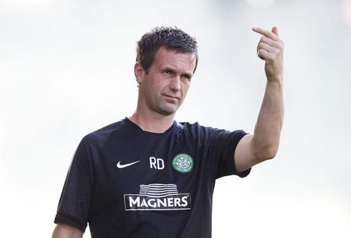 Celtic manager Ronny Deila began his tenure with an away win over KR Reykjavik in the Champions League second qualifying round first-leg tie. Photo: Christian Hofer/Getty Images