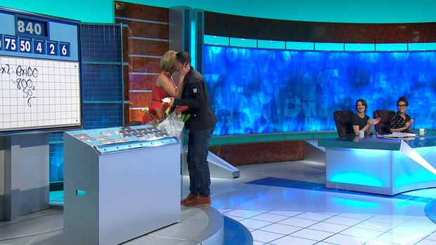 Ryan Giggs surprising Rachel Riley on her 1000th show of Coundown. One of the imagined duo also paid a visit to the set.
