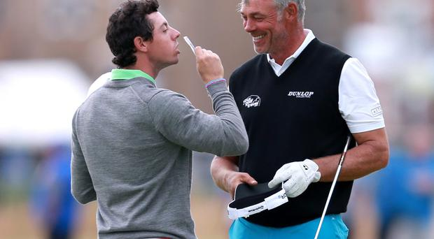 Rory McIlroy took a few quid off Darren Clarke today ahead of tomorrow's starting British Open