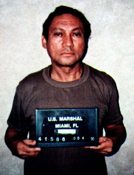 Panaman's former dictator Manuel Noriega is seen in Miami, Florida, after his arrest by U.S. Drug Enforcement Agency agents, in this file booking photo taken January 4, 1990. Reuters