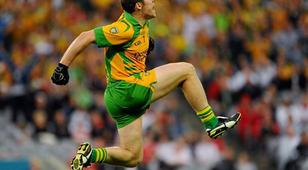 Kevin Cassidy still retains the enthusiasm captured here as he celebrates after scoring the winning point for Donegal against Kildare in the 2011 All-Ireland SFC quarter-final at Croke Park. Photo: Dire Brennan / SPORTSFILE
