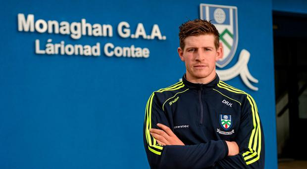 Monaghan's Darren Hughes has finally anchored himself to a position with a permanent feel about it. Photo: Oliver McVeigh / SPORTSFILE
