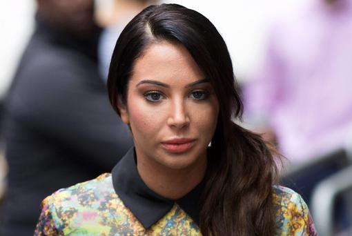 Singer Tulisa Contostavlos arrives at Southwark Crown Court