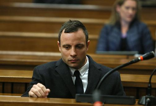 Oscar Pistorius during his murder trial at the Pretoria High Court. Photo credit: Alon Skuy/The Times/Gallo Images/Getty Images