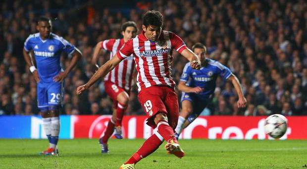 Diego Costa has completed his move from Atletico Madrid to Chelsea. Photo by Clive Rose/Getty Images