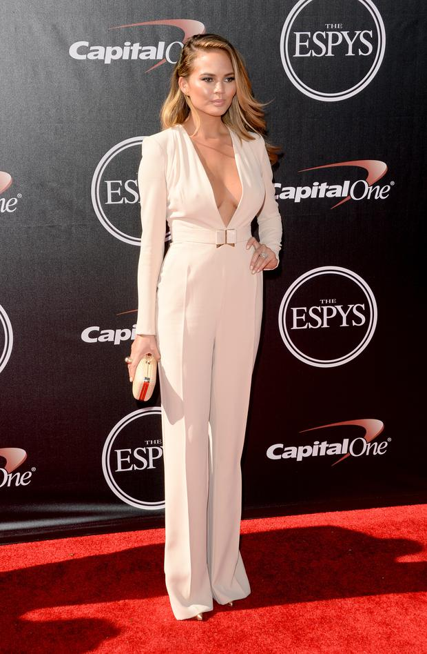 Model Christine Teigen attends The 2014 ESPYS at Nokia Theatre L.A. Live