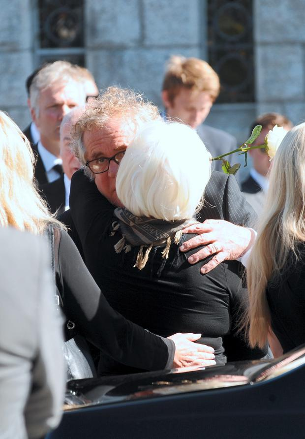 David Marshall and family arriving at the funeral of his son Daniel Marshall. Our Lady Queen of Peace Church, Merrion Road, Dublin. Picture: Caroline Quinn
