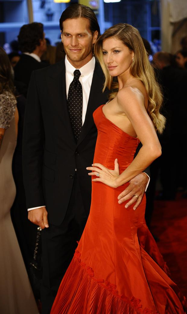 NFL player Tom Brady of the New England Patriots and model Gisele Bundchen attends the 'Alexander McQueen: Savage Beauty' Costume Institute Gala at The Metropolitan Museum of Art on May 2, 2011