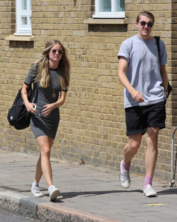 Cressida Bonas arriving at The Rosemary Branch Theatre for her matinee performance of 'There's a Monster in the Lake'