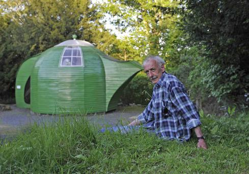 Ian Hunter from Roxburghshire, a finalist in the unique category of the 2014 Shed of the Year competition sponsored by Cuprinol for his Teapot shed.