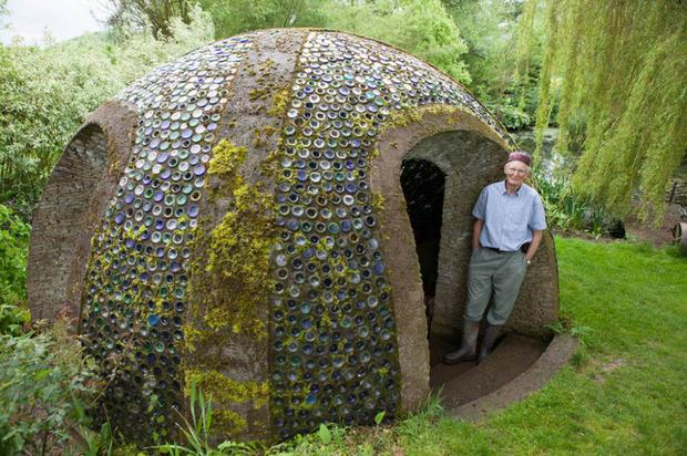 Richard Pim, from Pembridge, a finalist in the eco category of the 2014 Shed of the Year competition sponsored by Cuprinol for his Bottle Grotto shed. The shed has been selected from over 2,000 entries by more than 20,000 public votes.