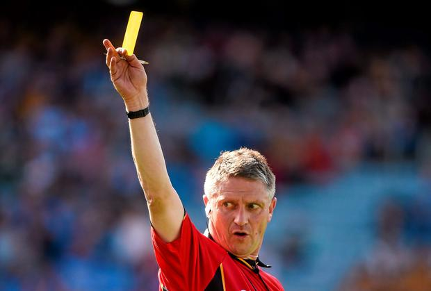 Referee Barry Kelly's actions in the Leinster Hurling Final have proved to be controversial