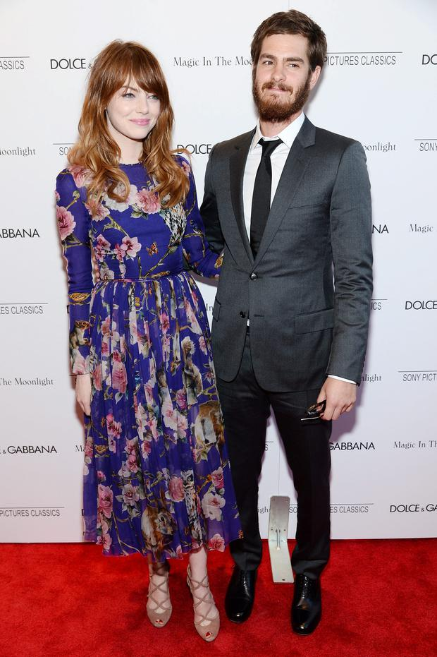 Actors Emma Stone and Andrew Garfield attend the