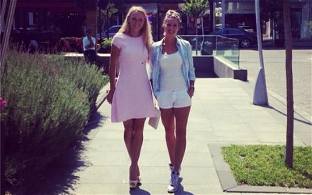 Caroline Wozniacki posted a picture of herself in high heels out shopping with a friend in Istanbul Photo: INSTAGRAM