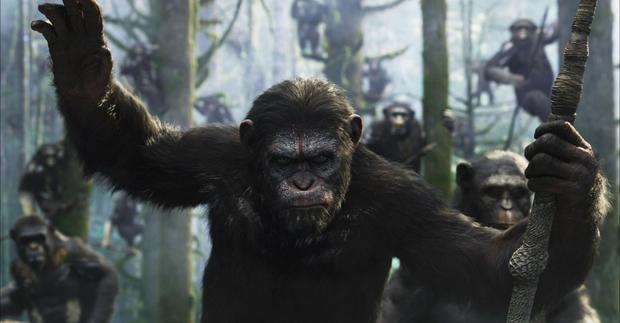 Andy Serkis as Caesar in Dawn of the Planet of the Apes