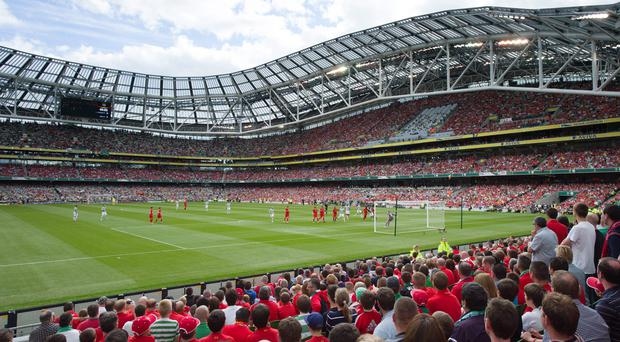 The Aviva was packed for Liverpool v Celtic last year