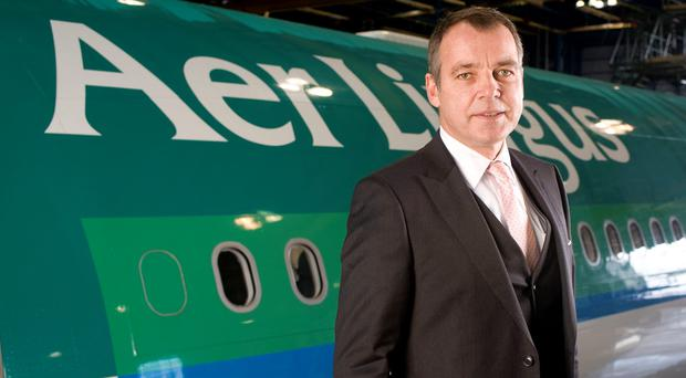 Christoph Mueller, outgoing chief executive officer of Aer Lingus