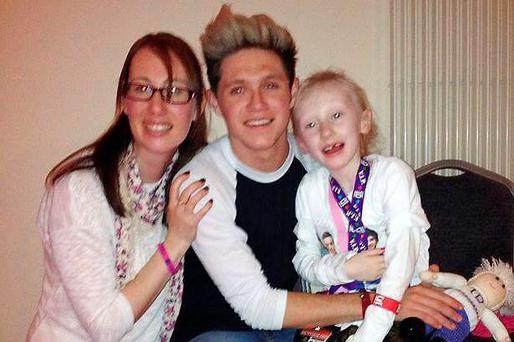 Leah Hession and her mother Lorraine meet Niall Horan in May