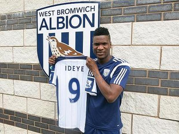 West Brom's new signing Brown Ideye