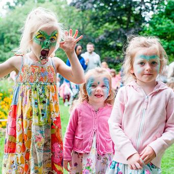 Katie May Fogarty (5), Emily Fogarty (2) and Siofra Dunagh (4) enjoying Laya Healthcare''s City Spectacular in Dublin last weekend - when the weather was better