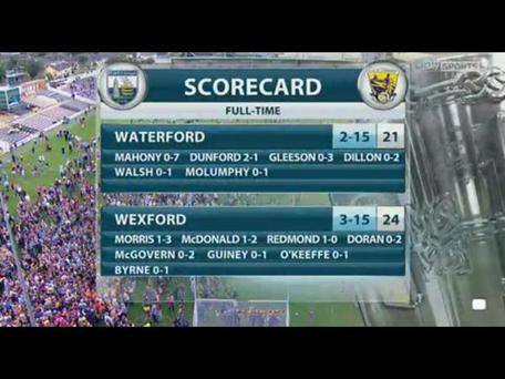 Wexford against Waterford was probably the best game to have featured on Sky Sports so far