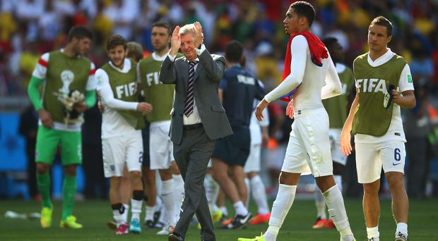 England manager Roy Hodgson acknowledges the fans after a 0-0 draw during the 2014 FIFA World Cup Brazil Group D match between Costa Rica and England at Estadio Mineirao. Photo credit: Richard Heathcote/Getty Images