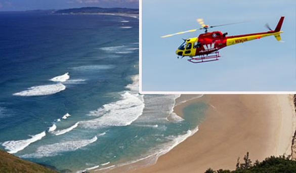 The 19-year-old was one of three friends who got caught in a rip off Cape Byron in New South Wales at 10.30am yesterday morning