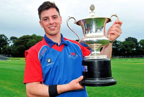 Eoghan Delany, pictured here with the Bob Kerr cup