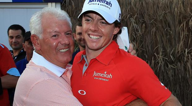 Gerry McIlroy, the former bartender at Holywood Golf Club, lodged £200 with Ladbrokes at 500/1 that his son, Rory, then just 15, would lift the famous Claret Jug in the next 10 years. Photo credit: Photo by David Cannon/Getty Images