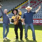 Pictured at the launch of 98FM's Ultimate Garth Brooks Experience this morning were Ray Foley, Trevor Smith ( Garth Brooks) and JP Gilbourne.