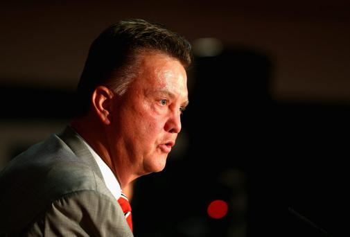 Louis Van Gaal will be determined to develop and tutor the young talent at Manchester United. Photo: Clive Mason/Getty Images