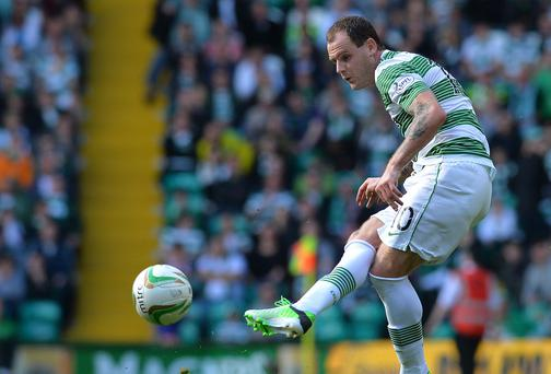 Anthony Stokes will be missing for Celtic in their second leg Champions League second qualifer against KR Reykjavik. Photo by Mark Runnacles/Getty Images