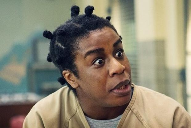 Uzo Aduba plays Crazy Eyes in Orange is the New Black