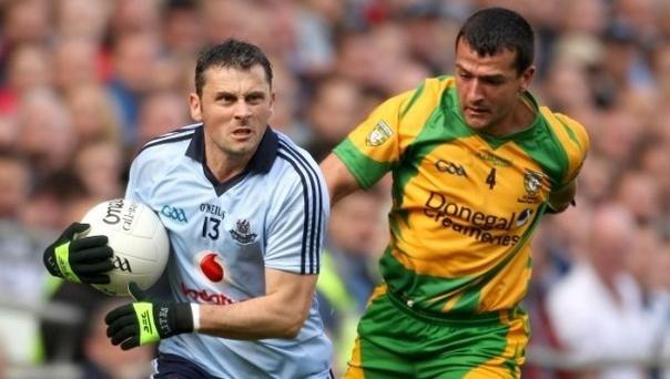 Dublin's Alan Brogan in action against Donegal's Frank McGlynn during the 2011 All-Ireland semi-final