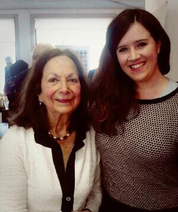 Claudia Roden and I at the launch of her cookbook
