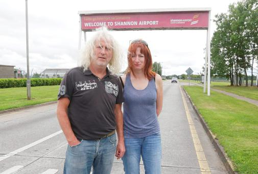 Independent TD's Mick Wallace and Clare Daly were arrested at Shannon Airport yesterday after they allegedly breached a security perimeter. Picture: Brian Arhtur/Press 22