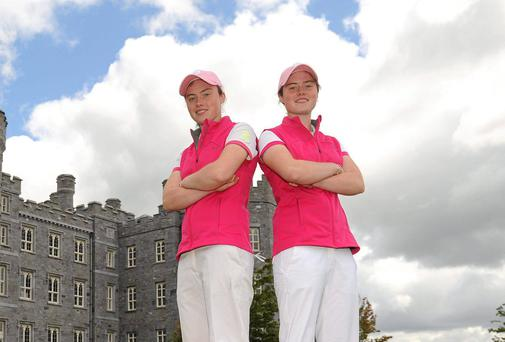 Lisa Maguire (left) and twin sister Leona are among five Irish players in the field for the European Ladies Individual Championship in Estonia: Pat Murphy / SPORTSFILE