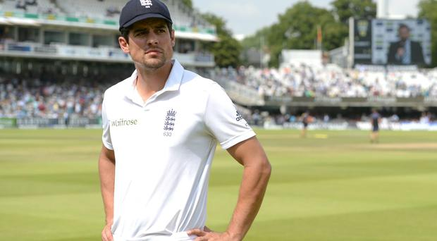 England captain Alastair Cook is determined to carry on leading the Test side despite his poor run of form. Photo: Anthony Devlin/PA Wire
