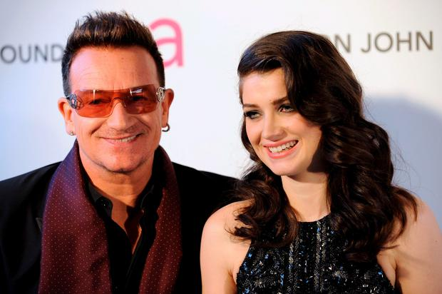 Musician Bono and his daughter Eve Hewson